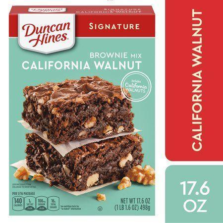"""<p><strong>Duncan Hines</strong></p><p>walmart.com</p><p><strong>$1.98</strong></p><p><a href=""""https://go.redirectingat.com?id=74968X1596630&url=https%3A%2F%2Fwww.walmart.com%2Fip%2F10309719&sref=https%3A%2F%2Fwww.bestproducts.com%2Feats%2Fg35651204%2Fvegan-foods%2F"""" rel=""""nofollow noopener"""" target=""""_blank"""" data-ylk=""""slk:Shop Now"""" class=""""link rapid-noclick-resp"""">Shop Now</a></p><p>It's not too hard to make vegan brownies from scratch, but sometimes you just want to use a boxed mix. Obviously you can't add the two eggs that the box calls for, but flax eggs (1 tablespoon flax and 3 tablespoons water per egg) or canned pumpkin (¼ cup of each per egg) will work just fine.</p><p><em>Per 0.1 package: 130 cals, 4 g fat (1 g sat), 95 mg sodium, 23 g carbs, 1 g fiber, 16 g sugar, 2 g protein. </em></p>"""