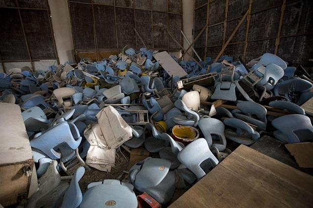 <p>Seats damaged at the Maracana (Silvia Izquierdo) </p>