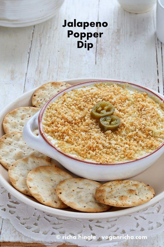 """<p>This recipe comes with both a cooked or raw option, depending on your mood and preferences. It requires a bit of prep time (about 2 hours), but the final product is an appetizer guests will love, or one you can store in the fridge and enjoy by yourself for days. </p><p><a class=""""link rapid-noclick-resp"""" href=""""https://www.veganricha.com/jalapeno-popper-dip-vegan-glutenfree/#recipe"""" rel=""""nofollow noopener"""" target=""""_blank"""" data-ylk=""""slk:Get the recipe"""">Get the recipe</a><br><em><br>Per one serving: 199 cal, 13 g fat (2 g saturated fat), 14 g carbs, 2 g sugar, 556 mg sodium, 2 g fiber, 7 g protein</em></p>"""
