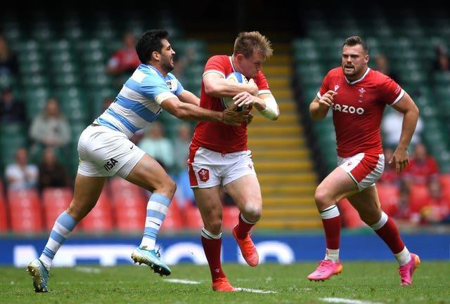Wales and Argentina fought out a 20-20 draw in the first Test