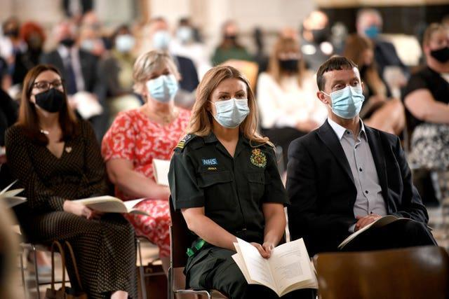 NHS staff at the service