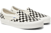 """<p><strong>Vans</strong></p><p>mrporter.com</p><p><strong>$60.00</strong></p><p><a href=""""https://go.redirectingat.com?id=74968X1596630&url=https%3A%2F%2Fwww.mrporter.com%2Fen-us%2Fmens%2Fproduct%2Fvans%2Fshoes%2Fslip-on-sneakers%2Fog-classic-lx-checkerboard-canvas-slip-on-sneakers%2F3983529958960691&sref=https%3A%2F%2Fwww.esquire.com%2Fstyle%2Fmens-fashion%2Fg35083025%2Fmr-porter-end-of-season-sale-2020%2F"""" rel=""""nofollow noopener"""" target=""""_blank"""" data-ylk=""""slk:Shop Now"""" class=""""link rapid-noclick-resp"""">Shop Now</a></p>"""