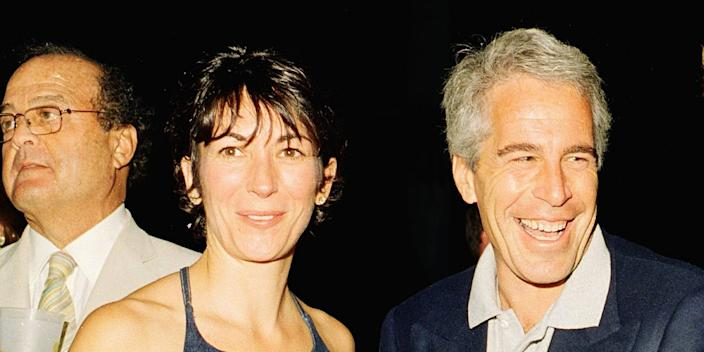 Ghislaine Maxwell (L) and Jeffrey Epstein (R) pose for a portrait during a party at the Mar-a-Lago club, Palm Beach, Florida, February 12, 2000.
