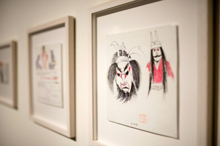 More than 100 sketches from Andrzej Wajda's trips to Japan are on display (AFP Photo/BARTOSZ SIEDLIK)