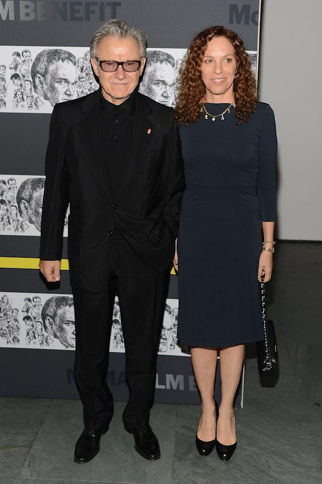 NEW YORK, NY - DECEMBER 03:  (L-R) Harvey Keitel and Daphna Kastner attend The Museum of Modern Art Film Benefit Honoring Quentin Tarantino at MOMA on December 3, 2012 in New York City.  (Photo by Andrew H. Walker/Getty Images)