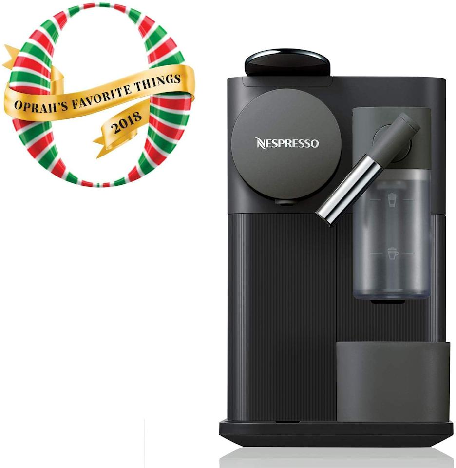 "<p>This <a href=""https://www.popsugar.com/buy/Nespresso-DeLonghi-Lattissima-One-Original-Espresso-Machine-538068?p_name=Nespresso%20by%20De%27Longhi%20Lattissima%20One%20Original%20Espresso%20Machine&retailer=amazon.com&pid=538068&price=216&evar1=casa%3Aus&evar9=47084366&evar98=https%3A%2F%2Fwww.popsugar.com%2Fphoto-gallery%2F47084366%2Fimage%2F47084374%2FNespresso-by-DeLonghi-Lattissima-One-Original-Espresso-Machine&list1=shopping%2Camazon%2Ccoffee%2Ckitchen%20tools%2Ckitchens&prop13=api&pdata=1"" rel=""nofollow"" data-shoppable-link=""1"" target=""_blank"" class=""ga-track"" data-ga-category=""Related"" data-ga-label=""https://www.amazon.com/Nespresso-Lattissima-One-DeLonghi-Black/dp/B07DYJVXL4/ref=sr_1_17?crid=2YEQW071UK11B&amp;keywords=nespresso+machine&amp;qid=1578497691&amp;sprefix=nespresso+m%2Caps%2C216&amp;sr=8-17"" data-ga-action=""In-Line Links"">Nespresso by De'Longhi Lattissima One Original Espresso Machine</a> ($216, originally $379) was one of <a class=""sugar-inline-link ga-track"" title=""Latest photos and news for Oprah Winfrey"" href=""https://www.popsugar.com/Oprah-Winfrey"" target=""_blank"" data-ga-category=""Related"" data-ga-label=""https://www.popsugar.com/Oprah-Winfrey"" data-ga-action=""&lt;-related-&gt; Links"">Oprah Winfrey</a>'s Favorite Things in 2018, so you know it's good. It has a single-serve milk frother, which means you can have your favorite latte waiting for you in just 40 seconds.</p>"