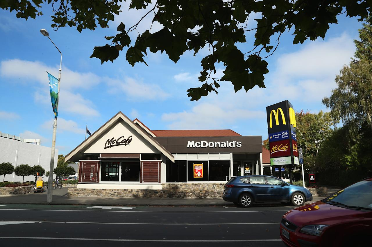 CHRISTCHURCH, NEW ZEALAND - MARCH 28:  Merivale McDonalds on Papanui Road, where Jesse Ryder was found by police in the drive through early on March 28, 2013 in Christchurch, New Zealand.  (Photo by Joseph Johnson/Getty Images)