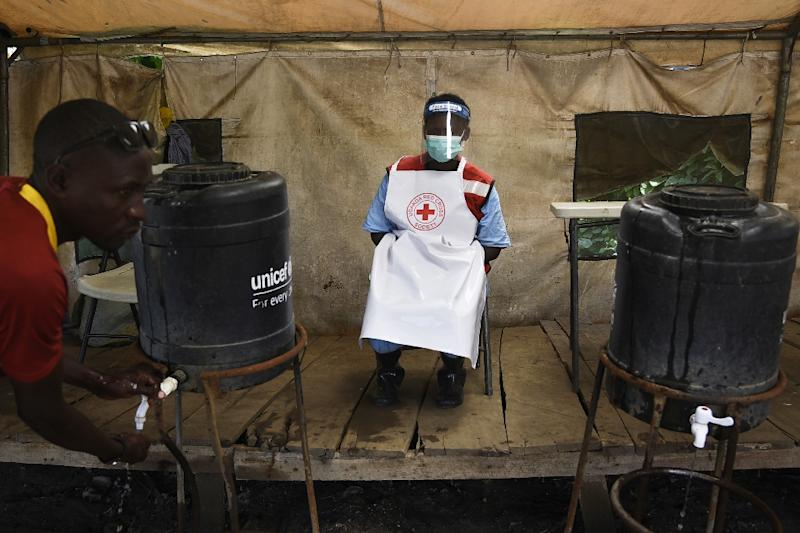 The Mpondwe border post is on high alert after a family with suspected Ebola entered Uganda from Congo (AFP Photo/ISAAC KASAMANI)