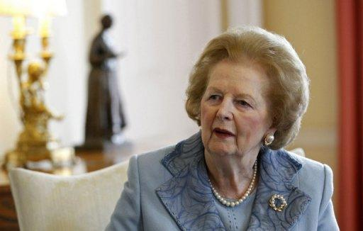 Seven suits belonging to former British Prime Minister Margaret Thatcher, pictured in 2010, fetch £73,000 at London sale