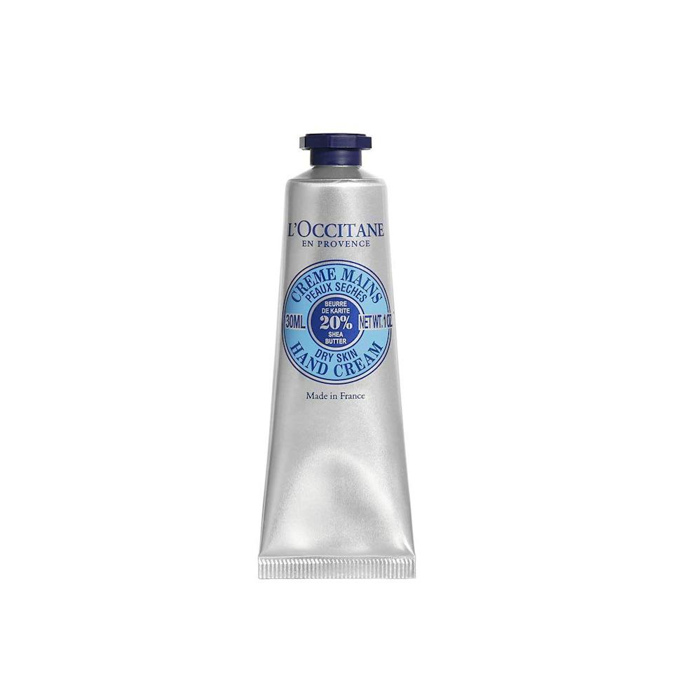 """<p><strong>Last year's deal: </strong>One of our favorite places to get lotions (seriously, the <a href=""""https://www.loccitane.com/en-us/shea-butter-hand-cream-01MA150K18.html"""" rel=""""nofollow noopener"""" target=""""_blank"""" data-ylk=""""slk:Shea Butter Hand Cream"""" class=""""link rapid-noclick-resp"""">Shea Butter Hand Cream</a> is just a dream), L'Occitane is offering 20% off full-size products. </p><p><strong><a href=""""https://www.loccitane.com/en-us/"""" rel=""""nofollow noopener"""" target=""""_blank"""" data-ylk=""""slk:L'Occitane"""" class=""""link rapid-noclick-resp"""">L'Occitane</a></strong> <a class=""""link rapid-noclick-resp"""" href=""""https://go.redirectingat.com?id=74968X1596630&url=https%3A%2F%2Fwww.loccitane.com%2Fen-us%2F&sref=https%3A%2F%2Fwww.harpersbazaar.com%2Fbeauty%2Fg34398365%2Fblack-friday-cyber-monday-beauty-deals-2020%2F"""" rel=""""nofollow noopener"""" target=""""_blank"""" data-ylk=""""slk:SHOP"""">SHOP</a></p>"""