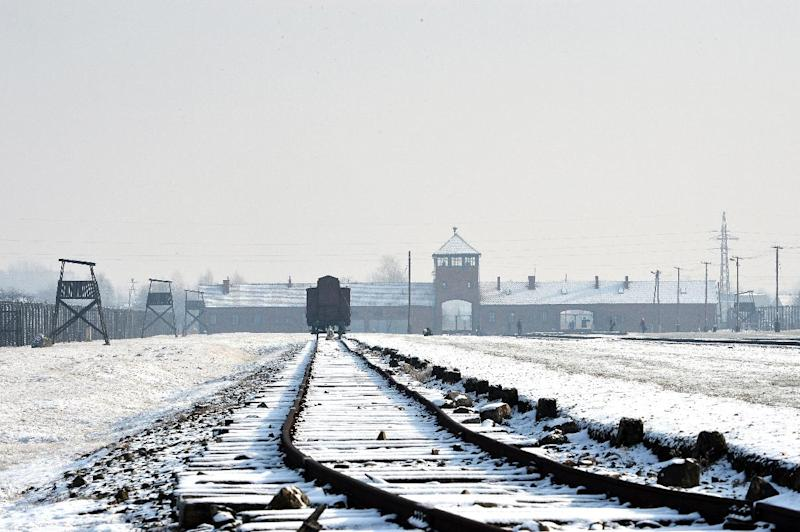 -The railway tracks at the former Nazi concentration camp Auschwitz-Birkenau in Oswiecim, Poland, pictured on January 27, 2014