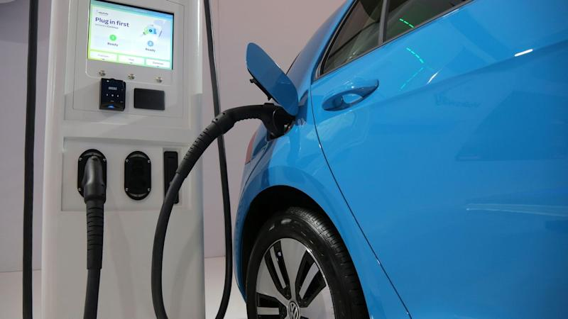 File photo of an Electric Vehicle at a charging station. Image: Reuters