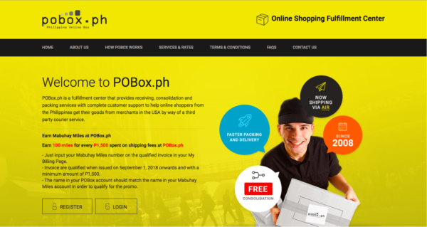 international shipping companies - pobox.ph