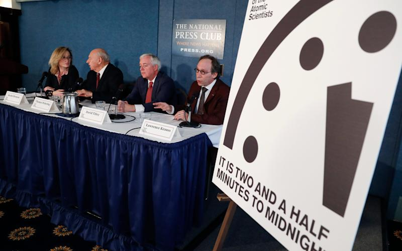 The Doomsday Clock moves closer to midnight  - Copyright 2017 The Associated Press. All rights reserved.