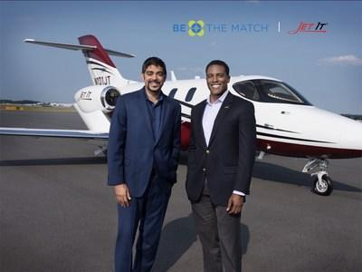 CEO Glenn Gonzales and Jet It Vice President of Strategy, Dr. Akir Khan in Greensboro NC announcing their new partnership with nonprofit, Be The Match.