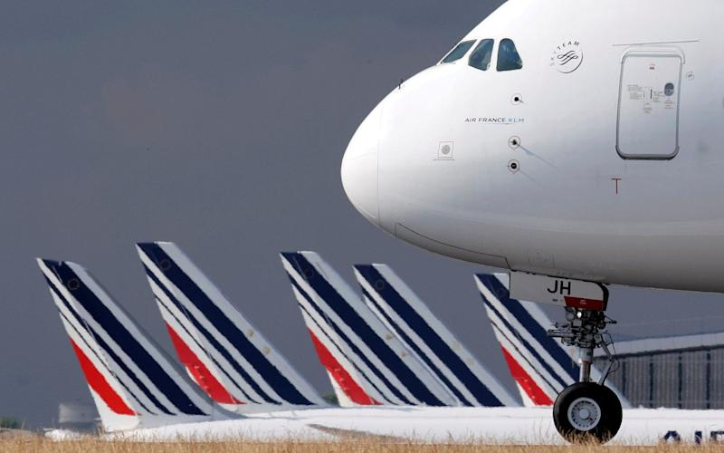 An Air France Airbus A380 aircraft is seen upon arrival at Charles-de-Gaulle airport after its retirement flight, in Roissy, near Paris - An Air France Airbus A380 aircraft is seen upon arrival at Charles-de-Gaulle airport after its retirement flight, in Roissy, near Paris/Reuters
