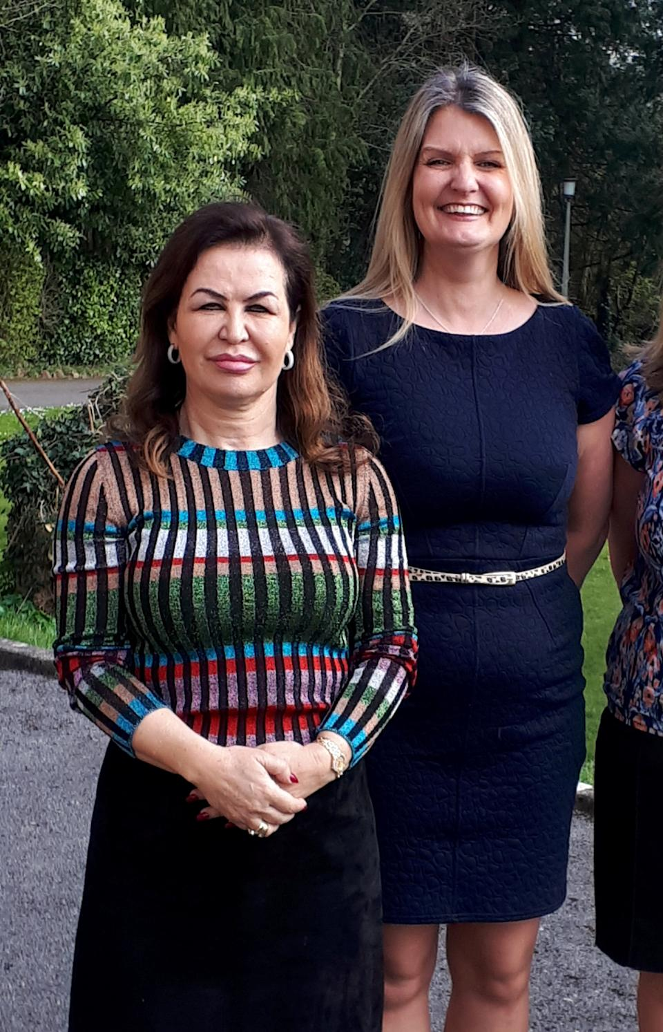 The managing director of Avon Care Homes, Christina Bila (left) with regional manager Julia Rea. (SWNS)
