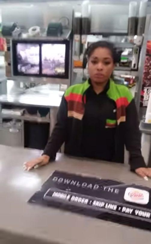 Shakayala Brown, an 18-year-old Burger King employee in Milwaukee, was filmed by angry customer Shawn Kremsreiter, who was demanding a refund for his sandwich order. (Photo: YouTube/Shawn Kremsreiter)