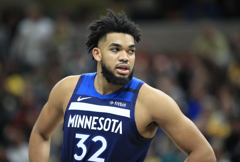Timberwolves star Karl-Anthony Towns will be re-evaluated in two weeks while dealing with a fractured left wrist.