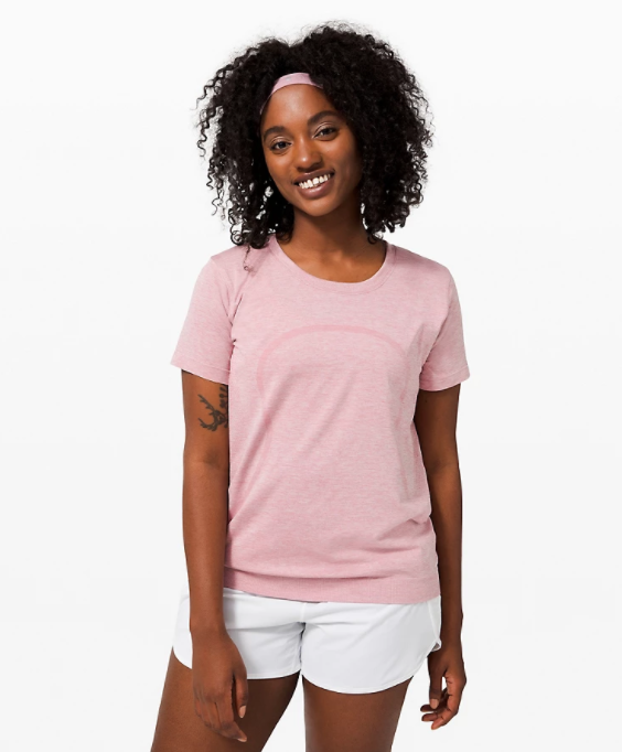 Swiftly Relaxed Short Sleeve in pink taupe