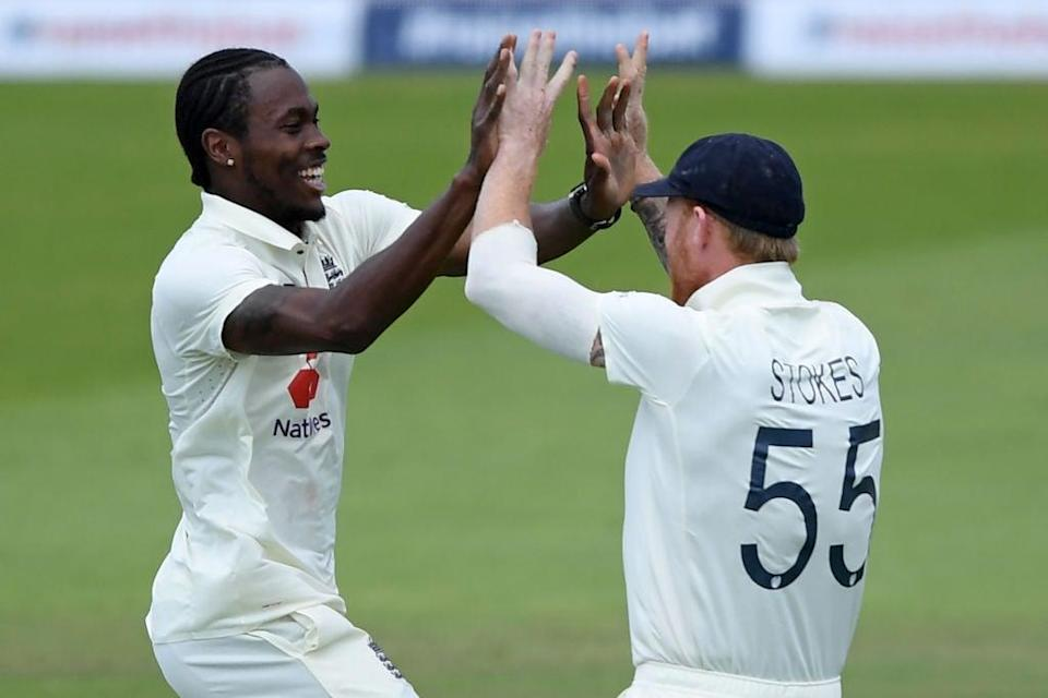 <p>Jofra Archer and Ben Stokes will play together in an England T20 for the first time</p>POOL/AFP via Getty Images