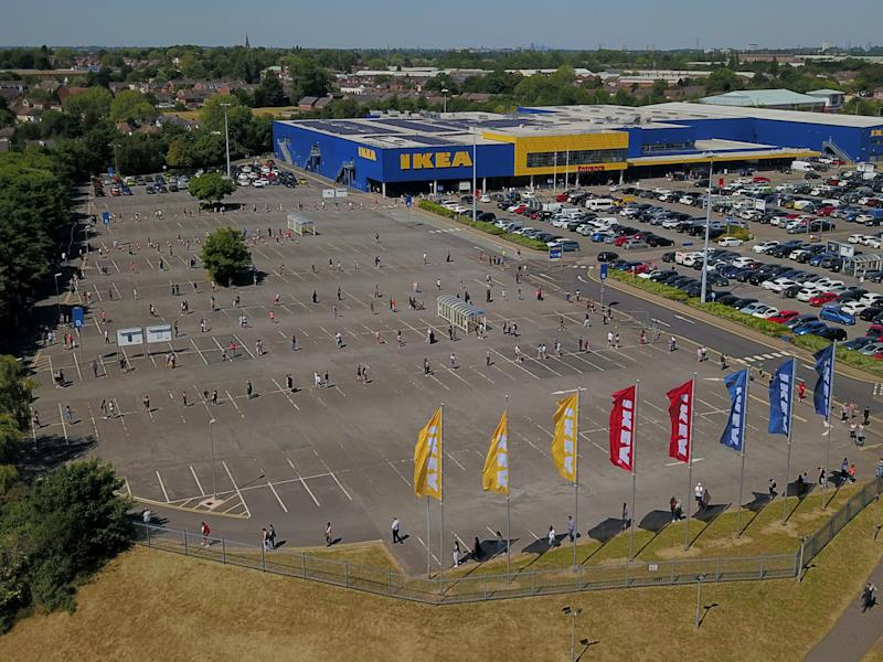 IKEA shut on the 20th of March before the lockdown was in effect. (SWNS)