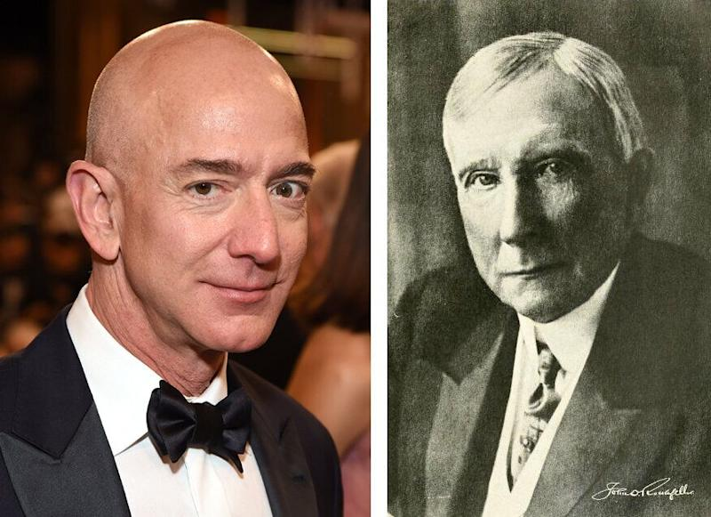 Bezos (links) und Rockefeller (Bilder: Getty)