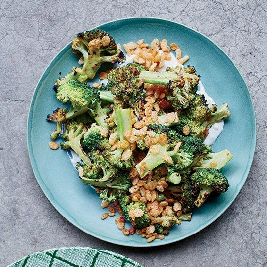 "<p>Chicago chef Stephanie Izard amps up broccoli with a punchy vinaigrette, creamy blue cheese dressing and an irresistibly crunchy, butter-toasted Rice Krispies topping.</p><p><a href=""https://www.foodandwine.com/recipes/charred-broccoli-blue-cheese-dressing-and-spiced-crispies"">GO TO RECIPE</a></p>"