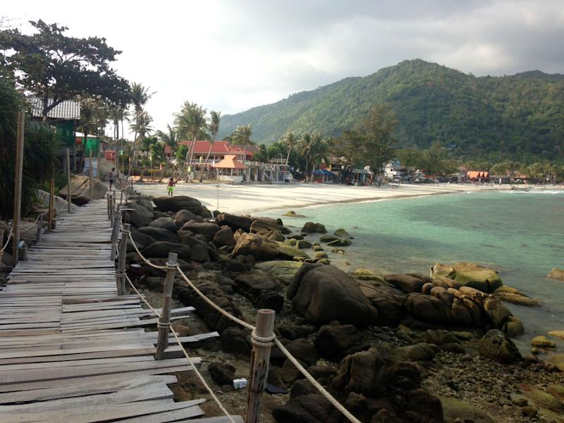 This 2014 photo shows Sunrise Beach in Koh Phangan, Thailand. Thailand's beaches and islands are beautiful and relaxing, with a vibrant party scene, and make an exotic alternative to more traditional spring break destinations for adventurous travelers. (AP Photo/Mairead Flynn)