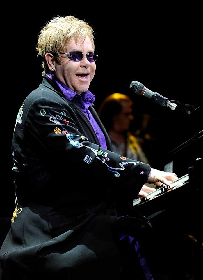 """March 25: Elton John turns 64 Kevin Mazur/<a href=""""http://www.wireimage.com"""" target=""""new"""">WireImage.com</a> - March 16, 2011"""