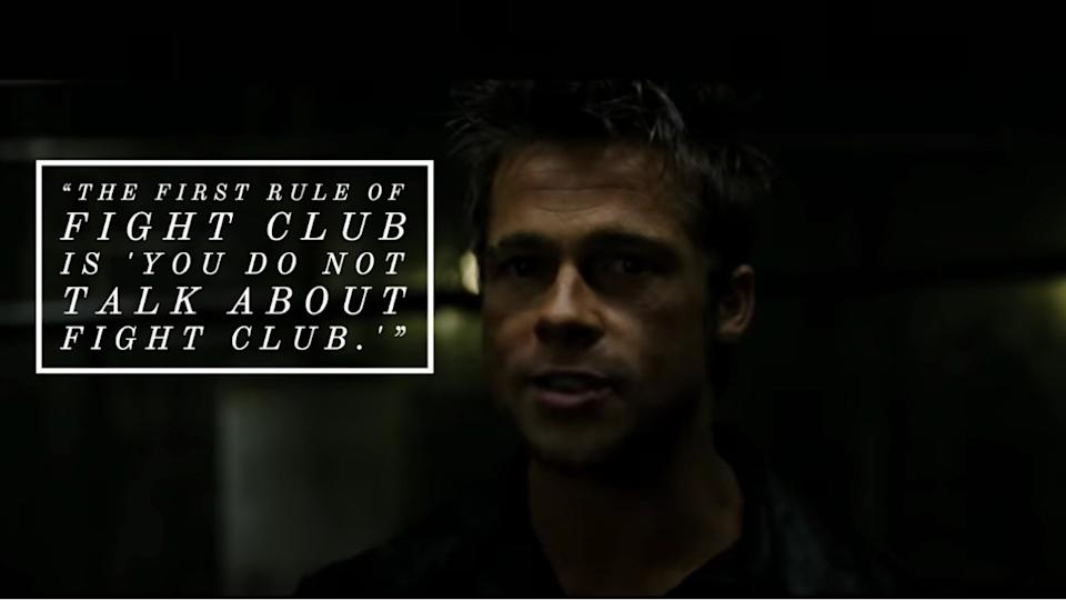 Fight Club movie quote