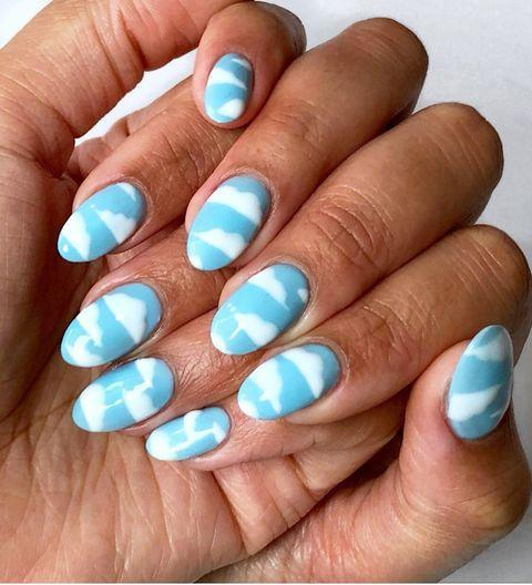 """<p>We can't promise that these dreamy nails will give you nothing but clear blue skies in 2021, but you can try.</p><p><a class=""""link rapid-noclick-resp"""" href=""""https://www.amazon.com/Whats-Up-Nails-Clouds-Stencils/dp/B01N13TITX/?tag=syn-yahoo-20&ascsubtag=%5Bartid%7C10055.g.29799716%5Bsrc%7Cyahoo-us"""" rel=""""nofollow noopener"""" target=""""_blank"""" data-ylk=""""slk:SHOP CLOUD NAIL STENCILS"""">SHOP CLOUD NAIL STENCILS </a></p><p><a href=""""https://www.instagram.com/p/B4kXCKNl73u/&hidecaption=true"""" rel=""""nofollow noopener"""" target=""""_blank"""" data-ylk=""""slk:See the original post on Instagram"""" class=""""link rapid-noclick-resp"""">See the original post on Instagram</a></p>"""