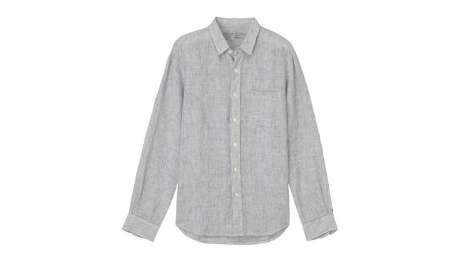 "<p>Men French Linen Washed Stripe Shirt, $42, <a href=""http://www.muji.us/store/d8sc764.html"" rel=""nofollow noopener"" target=""_blank"" data-ylk=""slk:muji.us"" class=""link rapid-noclick-resp"">muji.us</a> </p>"