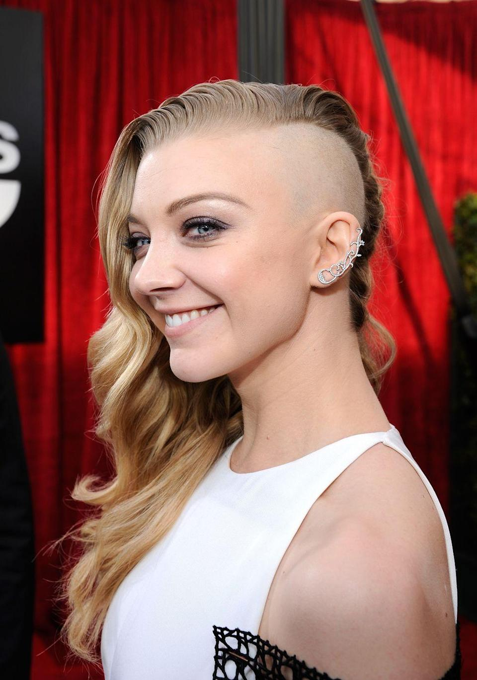 <p>It wasn't just her acting chops that snagged Natalie Dormer a role in <em>The Hunger Games </em>— it was also her willingness to part with her hair. (Or, at least half of her hair.) The actress shaved the side of her head for an edgy look to play Cressida in the action film. </p>