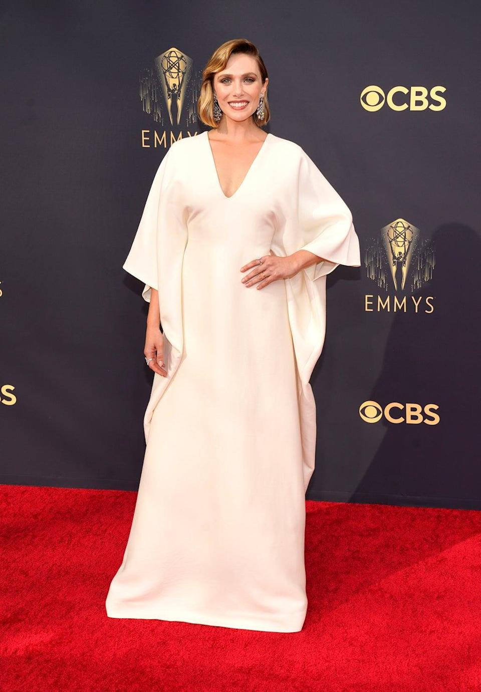 Elizabeth Olsen kept it in the family with her Emmys dress (AP Photo/Chris Pizzello) (AP)