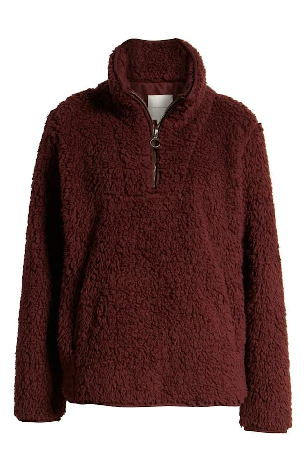 """<p><strong>Thread & Supply</strong></p><p>nordstrom.com</p><p><strong>$49.90</strong></p><p><a href=""""https://go.redirectingat.com?id=74968X1596630&url=https%3A%2F%2Fshop.nordstrom.com%2Fs%2Fthread-supply-wubby-fleece-pullover%2F5276971&sref=http%3A%2F%2Fwww.marieclaire.com%2Ffashion%2Fg28422262%2Fnordstrom-anniversary-sale-2019%2F"""" target=""""_blank"""">SHOP IT</a></p><p><strong><em>Original price: $78</em></strong></p><p>The perfect fuzzy pullover to snuggle into on a brisk Sunday morning while you drink your coffee on the porch or fire escape (for us city folks). </p>"""