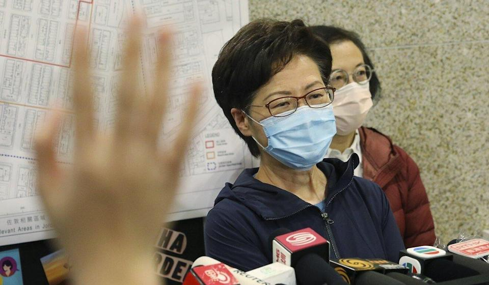 Carrie Lam addresses delays in vaccine procurement ahead of her weekly Executive Council meeting. Photo: Dickson Lee