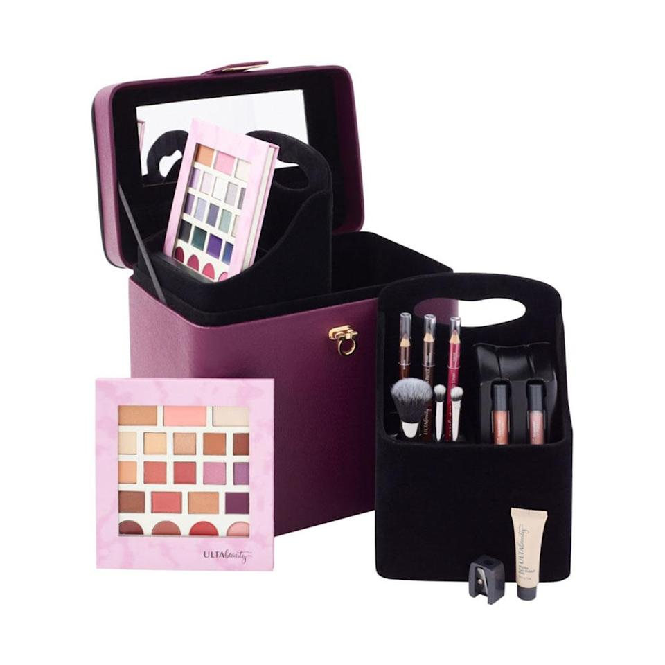 "<p>With two face palettes, 12 eyeshadows and a gorgeous carrying case, this 52-piece makeup set has all a beauty lover could ever want. <br><strong><a href=""https://fave.co/2Dn54df"" rel=""nofollow noopener"" target=""_blank"" data-ylk=""slk:SHOP IT"" class=""link rapid-noclick-resp"">SHOP IT</a>:</strong> $20, <a href=""https://fave.co/2Dn54df"" rel=""nofollow noopener"" target=""_blank"" data-ylk=""slk:ulta.com"" class=""link rapid-noclick-resp"">ulta.com</a> </p>"
