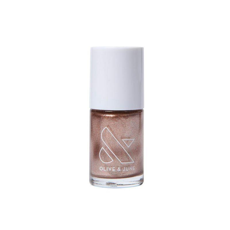 """<h3>Olive & June OJSM Nail Polish</h3> <br>""""Metallic polish is the easiest form of on-trend nail art,"""" says <a href=""""https://oliveandjune.com/"""" rel=""""nofollow noopener"""" target=""""_blank"""" data-ylk=""""slk:Olive & June"""" class=""""link rapid-noclick-resp"""">Olive & June</a> founder Sarah Gibson Tuttle. """"You can wear your favorite metallic shade as a solid color or add it as a <a href=""""https://www.refinery29.com/en-us/glitter-nail-art-designs"""" rel=""""nofollow noopener"""" target=""""_blank"""" data-ylk=""""slk:minimalist accent"""" class=""""link rapid-noclick-resp"""">minimalist accent</a>. Rose gold is currently our most in-demand metal.""""<br><br><strong>Olive & June</strong> Olive & June OJSM 7-Free Nail Polish, $, available at <a href=""""https://oliveandjune.com/products/ojsm?groupId=KfVP73Ino8Ycd3WgOF21"""" rel=""""nofollow noopener"""" target=""""_blank"""" data-ylk=""""slk:Olive & June"""" class=""""link rapid-noclick-resp"""">Olive & June</a><br>"""