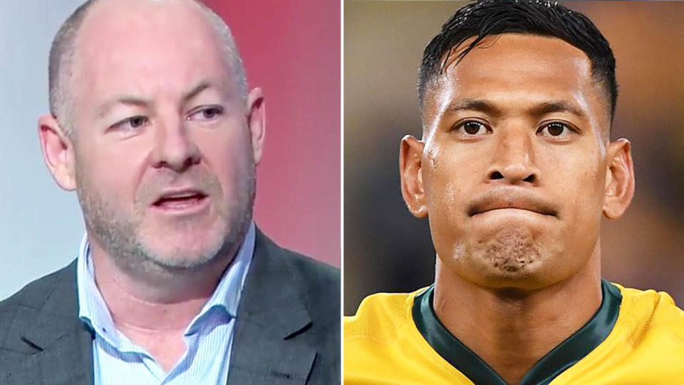 Andrew Webster has spoken out about Israel Folau. Image: Channel Nine/AAP