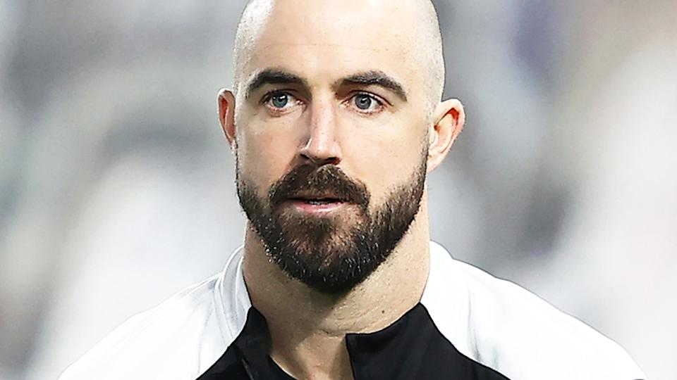 Steele Sidebottom, pictured here in action for Collingwood.