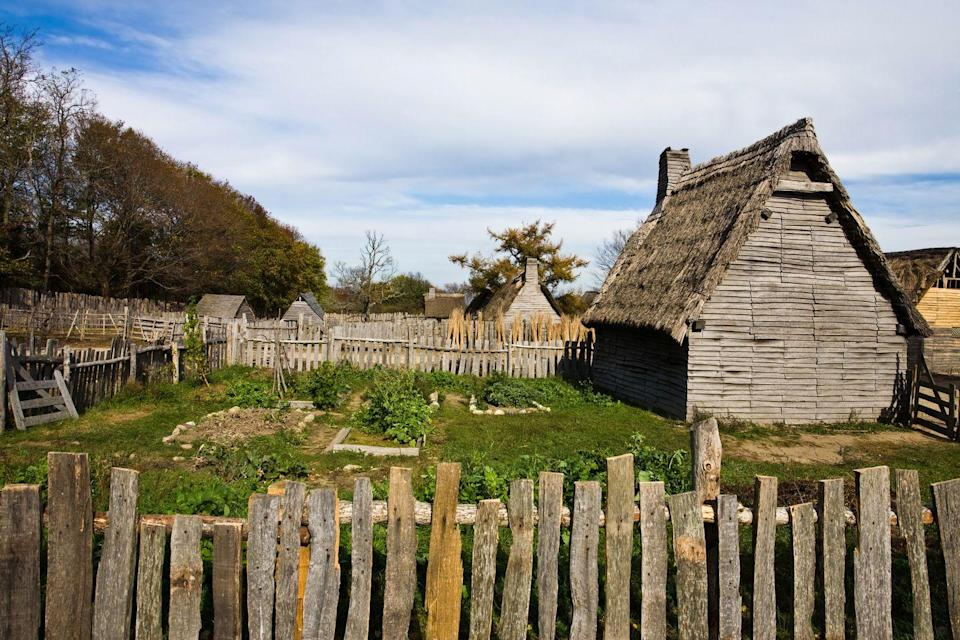 "<p>Plymouth, Massachusetts is home to the <a href=""https://www.plimoth.org"" rel=""nofollow noopener"" target=""_blank"" data-ylk=""slk:Plimoth Plantation"" class=""link rapid-noclick-resp"">Plimoth Plantation</a>, a living-history museum which tells the story of the indigenous Wampanoag people and the 17th-century community built by the English colonists along the shore of Plymouth Harbor. The museum, celebrating 400 years in 2020, also features a full-scale reproduction of the Mayflower ship.</p>"