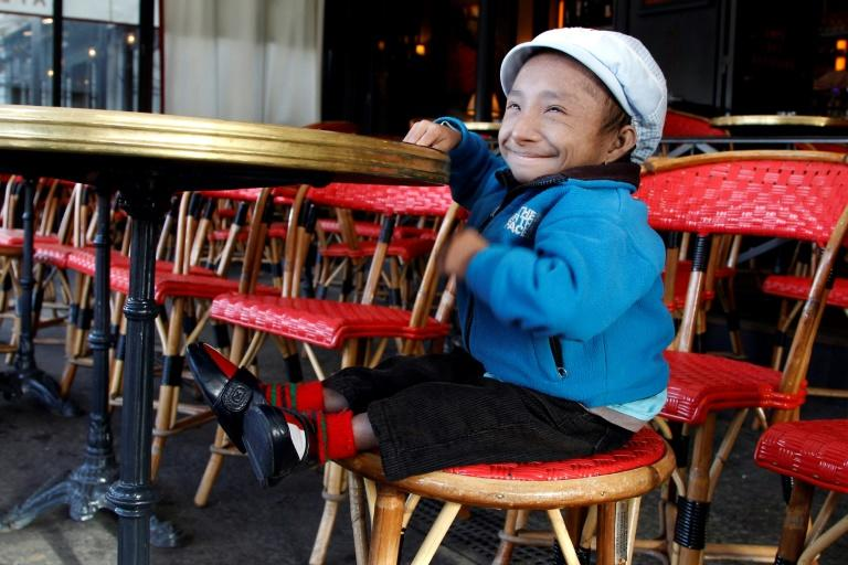 Khagendra Thapa Magar is seen in a Paris cafe in October 2011 (AFP Photo/FRANCOIS GUILLOT)