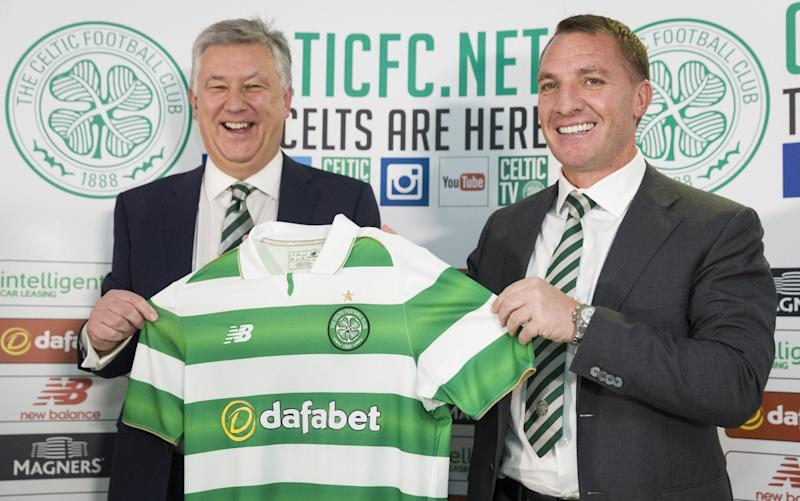 Brendan Rodgers has signed a new four-year deal at Celtic - Rex Features