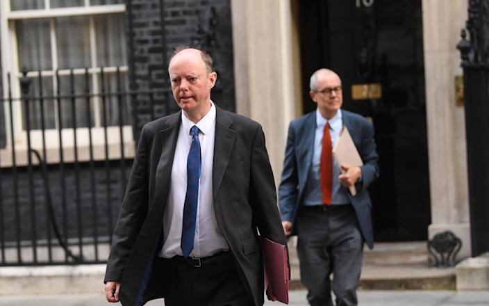 """Professor Chris Whitty and Sir Patrick Vallance have been urged to give """"really clear"""" information to MPs about why a second lockdown is needed - Neil Hall/Shutterstock"""