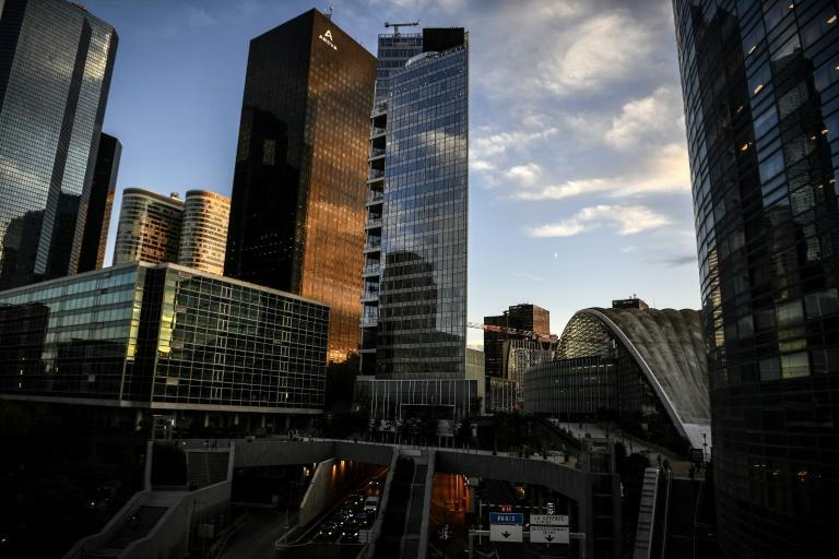 In normal times La Defense, Europe's biggest business district, is a hive of activity