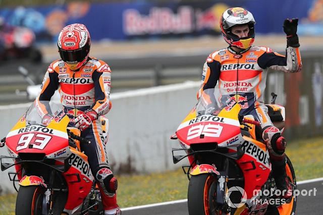 "Honda 2019: Marc Marquez, Jorge Lorenzo <span class=""copyright"">Gold and Goose / LAT Images</span>"