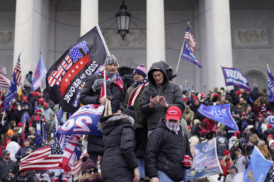 Protesters stormed the capitol building after Trump's speech on January 6. Source: Getty