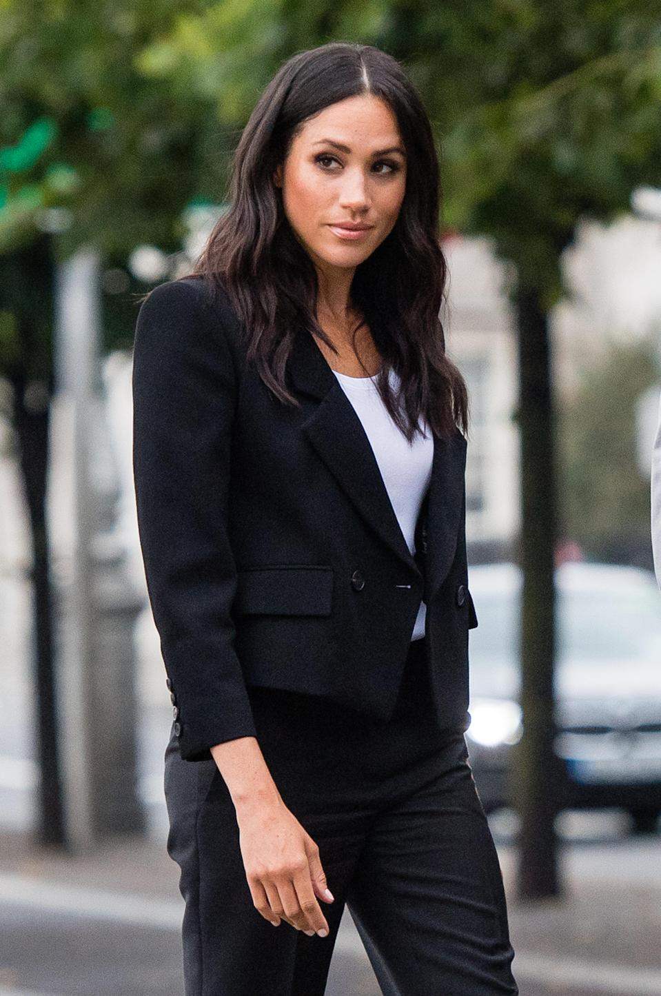 <p>Meghan is now opting to wear more blazers.<br>Source: Getty </p>