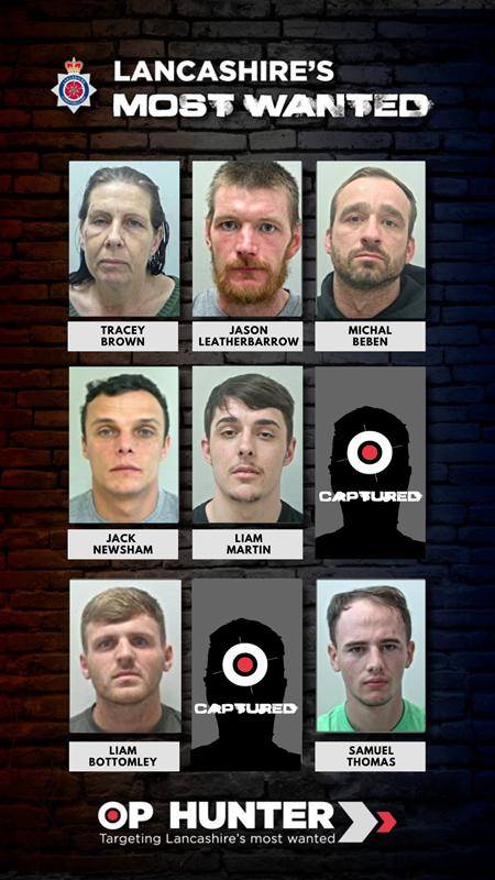 Lancashire Police's 'most wanted' list has been updated after David Holmes was arrested (Lancashire Police)